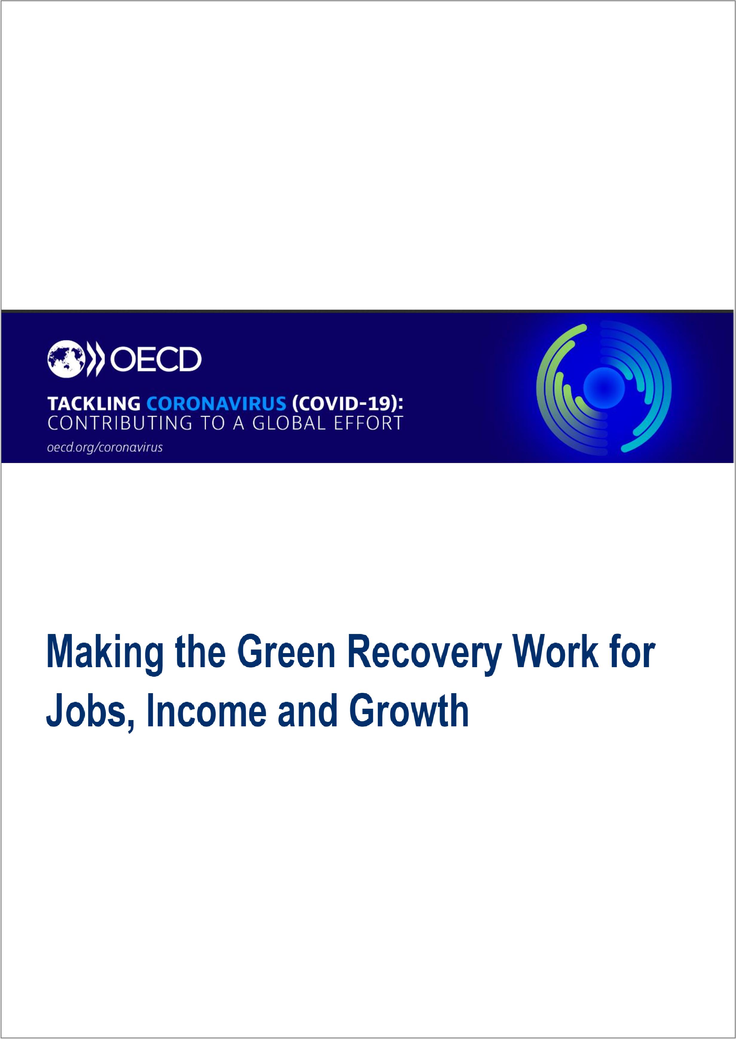Аналитический обзор ОЭСР о зеленых мерах по восстановлению экономик