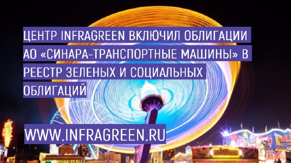 Центр INFRAGREEN включил облигации АО «Синара-Транспортные Машины» в Реестр зеленых и социальных облигаций